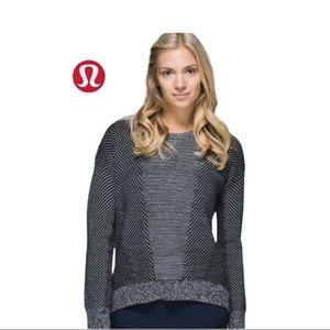 Lululemon Yogi Sweater Black/Heathered Light Grey